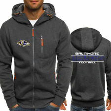 Baltimore Ravens Fan Hoodie Sporty Jacket Sweater Zipper Coat Spring Autumn Tops