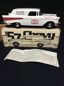 JLE Scale Models diecast Atlantic Oil 57 Chevy Nomad, Bank w/ Key ,#GI2007 NOS