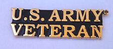 Us Army Veteran Script Pin