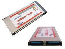 Carte EXPRESSCARD 34mm USB3.0 USB 3 SUPERSPEED 2 PORTS - Affleurante FLUSH MOUNT