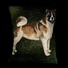 """AKITA TAPESTRY 16"""" x 12"""" ACCENT PILLOW COVER  ARTIST SIGNED PICKER RARE"""