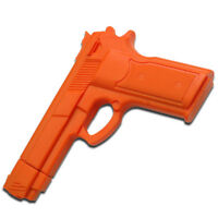 Practice Orange RUBBER TRAINING GUN Police Self Defense Martial Arts Pistol