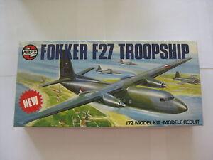 1 72 Model Plane FOKKER F27 TROOPSHIP Airfix D10-1389