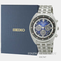Authentic Seiko Men's Recraft Series Stainless Steel Watch SSC567