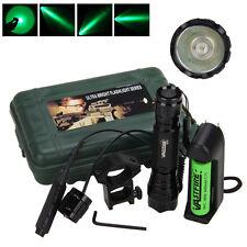 5000lm XML Q5 Tactical LED Flashlight Torch Mount Gun Remote Switch Battery
