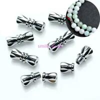 50 Pcs Jewelry Screw Clasp For Necklace Bracelet Making DIY Buckle Silver 12mm