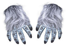 GREY Hairy mano Guanti LICANTROPO MOSTRO HALLOWEEN FANCY DRESS ACCESSORIO