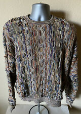 Vtg Tundra Canada Sweater Coogi Style Men's XL Multi Color Retro Textured