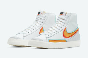 Nike Blazer Mid 77 Infinite Kumquat White Orange High Top Women's DC1746-100 NWB
