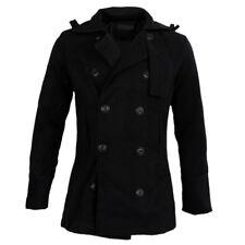 Maenner Trenchcoat Winter lange Jacke zweireihig Mantel CN XXL(US L) M9