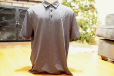 Under Armour Polo Size XL Loose Heat Gear Charcoal Gray Stripe Short Sleeve