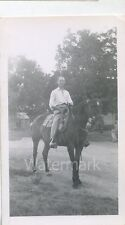 1949 photo Man on horse Jim Brown Ranch Laird CO Colorado