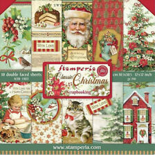NEW Stamperia Classic Christmas 12 x 12 Paper Pack - Christmas Vintage style