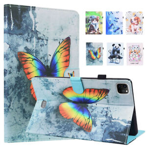 Shockproof Smart Stand PU Leather Pattern Case Cover with Card Holder for iPad