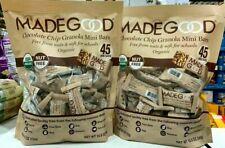 2 Packs MadeGood Organic Chocolate Chip Granola Mini Bars 45 CT 18.9OZ Each Pack