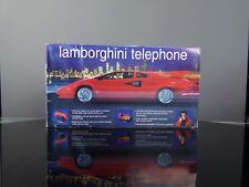 Téléphone animé Telemania Lamborghini Countach + box rétro 80's RARE USA