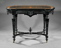 Victorian Marquetry Center Table, c 1865 #7779