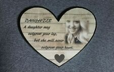 Heart Daughter Wood Shabby Chic Decorative Plaques & Signs