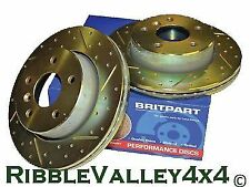 RANGE ROVER L322 2002-05 FRONT CROSS DRILLED AND GROVED DISCS AND FERODO PADS
