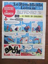 LE REPUBLICAIN LORRAIN ILLUSTRE DU DIMANCHE 15 UDERZO GREG MORRIS GRATON... 1967