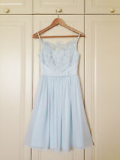 TED BAKER mint green lace bow fit & flare dress bridesmaid wedding party 1 8 XS