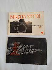 Original Camera Manual for Minolta Srt 101 includes a guide to minolta slrs