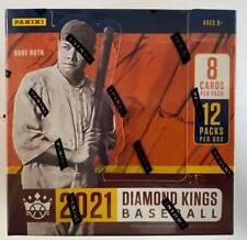 2021 Panini Diamond Kings MLB Baseball Factory Sealed Hobby Box Auto Blackout...