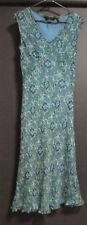 SPORTSCRAFT silk dress, green/blue paisley, VGC, 10