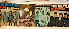 LOT OF 4 45's PICTURE SLEEVES GUESS WHO BEATLES BREAD WHOLESALE LOT