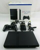 PlayStation 2 PS2 Slim TESTED with OEM SONY Controller, Memory Card and Cables.