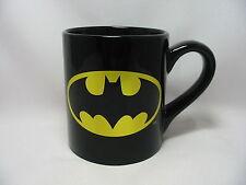 DC Comics Batman Shield Coffee Cup Mug 14 Oz. Black Gold Holographic New