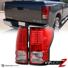 2007-2013 Toyota Tundra Trd Red/Clear LED Tail Light Brake Lamps Backup+Signal