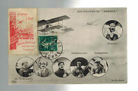 1910 Somme France Early airmail Postcard cover to Amiens Local Issue Air Stamps