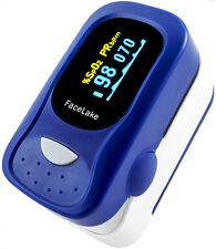 Pulse oximeter FL-100 with alarm, Fingertip Blood Oxygen Monitor OLED, FDA