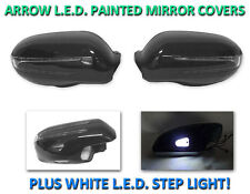 USA 05-08 R171 SLK Arrow LED Side Painted Black Mirror Cover + LED Step Light