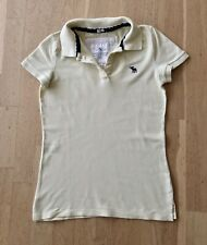 Abercrombie & Fitch Para Mujer Camisa Polo/Amarillo Top Tamaño M Uk10-120
