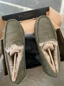 UGG ASCOT SUEDE Slippers US11 Burnt Olive FREE SHIPPING NO RESERVE