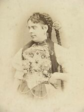 Adolphe Braun Cabinet Card Portrait Costumes de Suisse 1869 Switzerland