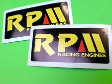 RPM Racing Engines Tool Box Helmet Pro Kart Stickers Decals 2 off 93mm