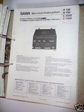 Service-Manual Saba C 7500/C 2500 HiFi System,ORIGINAL