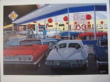 DAVE SNYDER ART 1963 CHEVROLET CORVETTE SPLIT WINDOW IMPALA SS 327 409 DAVID OK