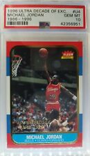 1996-97 FLEER Ultra DECADE OF EXCELLENCE MICHAEL JORDAN #U4, Low Pop,  PSA 10