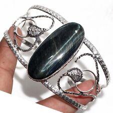 Silver Plated Adjustable Bangle Gw Black Tiger Eye 925 Sterling