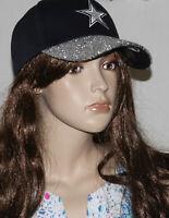 NWT! DALLAS COWBOYS Ladies Womens Roxy Glitter Bling Game Day Hat Cap