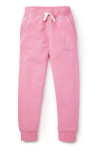 NWT HANNA ANDERSSON SLIM FRENCH TERRY COTTON SWEATPANTS POWER PINK 130 8