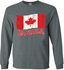 Canada Canadian Flag T-shirt Long Sleeve Tee Graphic Decal Gifts for Men