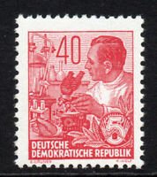 East Germany 40pf Rose Red Stamp c1953-55 Unmounted Mint Never Hinged (5299)