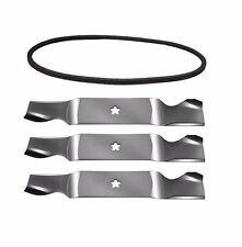 """3 Blades & Drive Belt Kit 54"""" For 532187256 532187255 532187254 187292 532196103"""