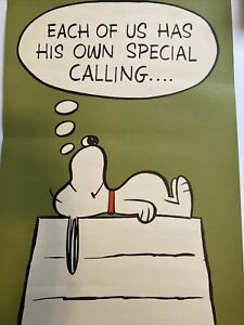 SNOOPY Poster Vintage 1960's Peanuts Schulz SNOOPY HALLMARK