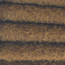 "1/4 yd 325S/CM Chocolate INTERCAL 5/8"" Semi-Sparse Curly Matted Mohair Fabric"